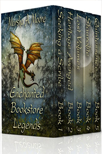 Enchanted Bookstore Legends (5-book complete epic fantasy romance box set), by Marsha A Moore